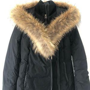 Black Mackage Adali with brown fur- Size XS
